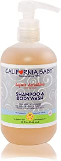 product image for California Baby Super Sensitive Shampoo and Body Wash - Hair, Face, and Body. Gentle, No Fragrance, Allergy Tested. Dry, Sensitive Skin, (19oz)
