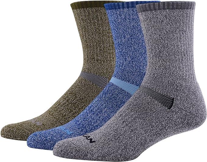 Cushioned Winter Boot Crew Socks 2 Pairs Merino Wool Socks for Men Women Hiking Cycling Running