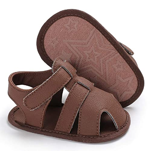 Tcesud Newborn Baby Girls Boys Infant Sandals Shoes Soft Sole Closed-Toe Casual Outdoor First Walkers Crib Shoes