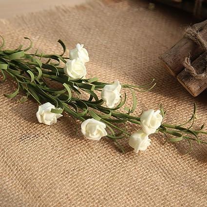 FLORES Flor Artificial Falsas Ramos Las Rosas 9Cabeza Seda Paño Ramo de la Boda del Novia
