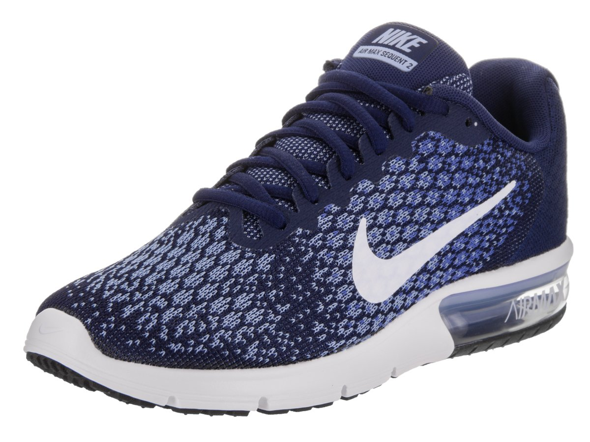 171b7c1951 Galleon - NIKE Women's Air Max Sequent 2 Binary Blue/White/Comet Blue Running  Shoe 8.5 Women US