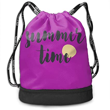 88e5b626d7ca Amazon.com: SWDHOI Summer Time Drawstring Bags Pumping Rope Backpack ...