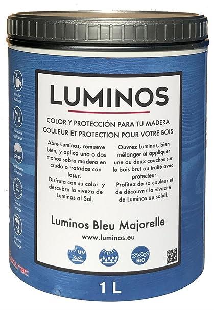 Luminos Lum1102 Wood Outdoor Finish Stain Protector 1liter Bleu Majorelle