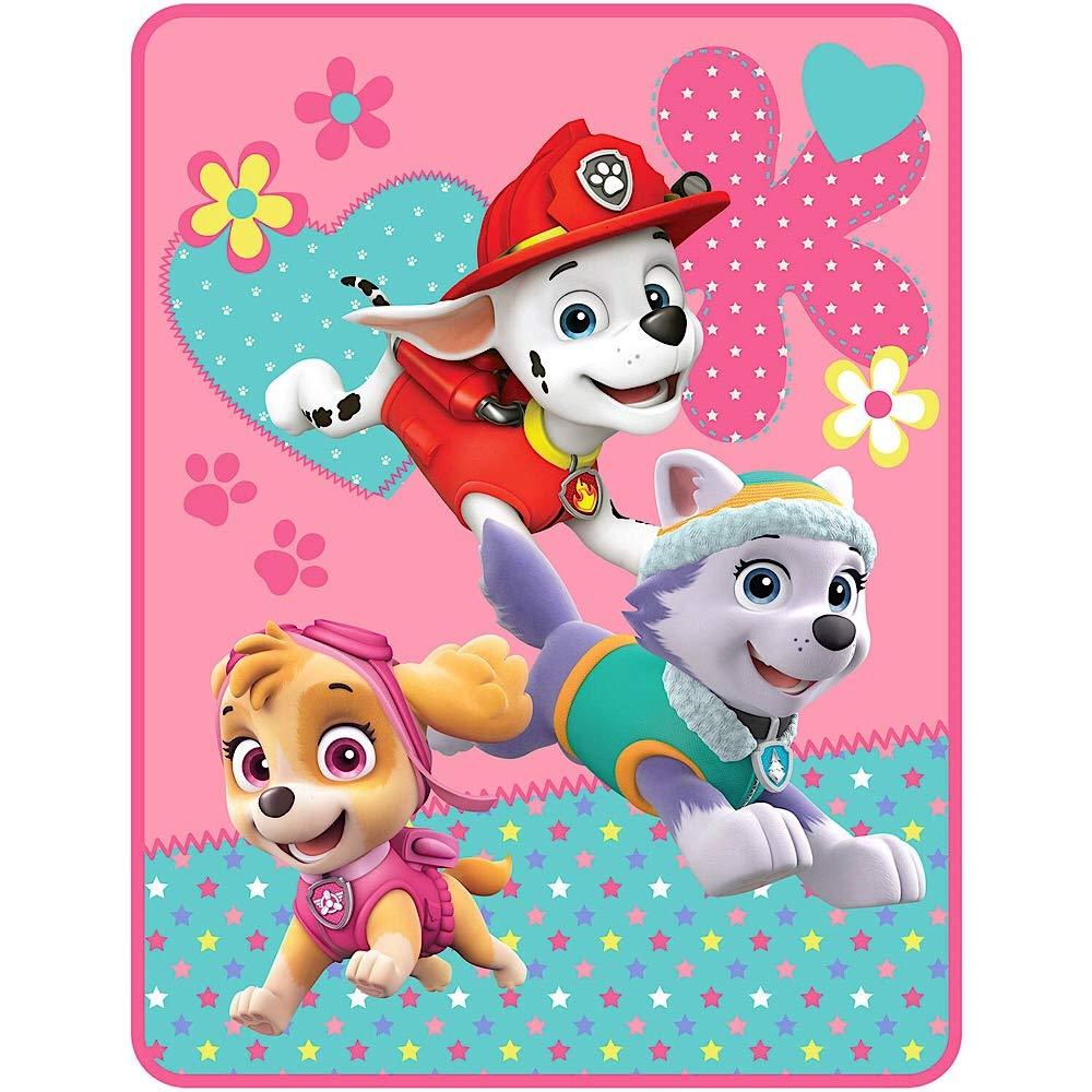 Paw Patrol Girl 'Pup Heroes' Plush Throw Blanket - 46 in. x 60 in.
