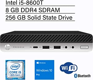 VCI HP ProDesk 600 G4 Mini, Intel i5-8600T, 8GB RAM, 256GB M.2 NVMe SSD, Windows 10 Pro 64-bit, Mini Business Desktop Computer, 3-Year Warranty