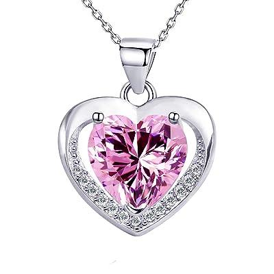 Elegant Yellow Gold Pendant,CZ Pendant,April Birthstone,White CZ Pendant,White CZ Heart,Solitaire Pendant,Gold Necklace,Handmade Jewelry