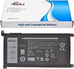 WDX0R Laptop Battery for Dell Inspiron 15 5568 7560 5567 7570/13 7368 5378 14-7460/17-5770 7569 7579 Series 3CRH3 T2JX4 FC92N CYMGM WDXOR Y3F7Y 11.4V 42Wh