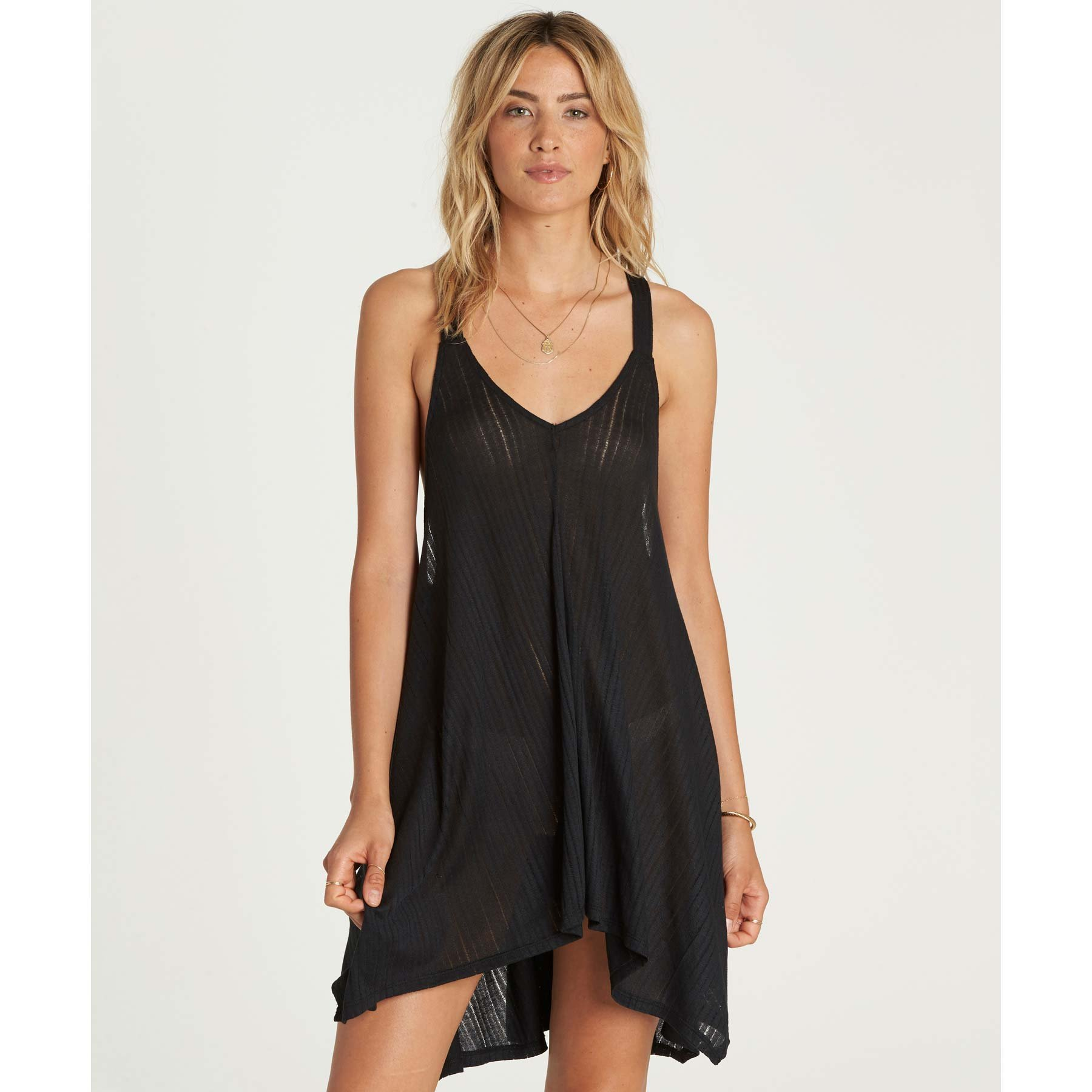 Billabong Junior's Twisted View Cover up, Black Pebble, M