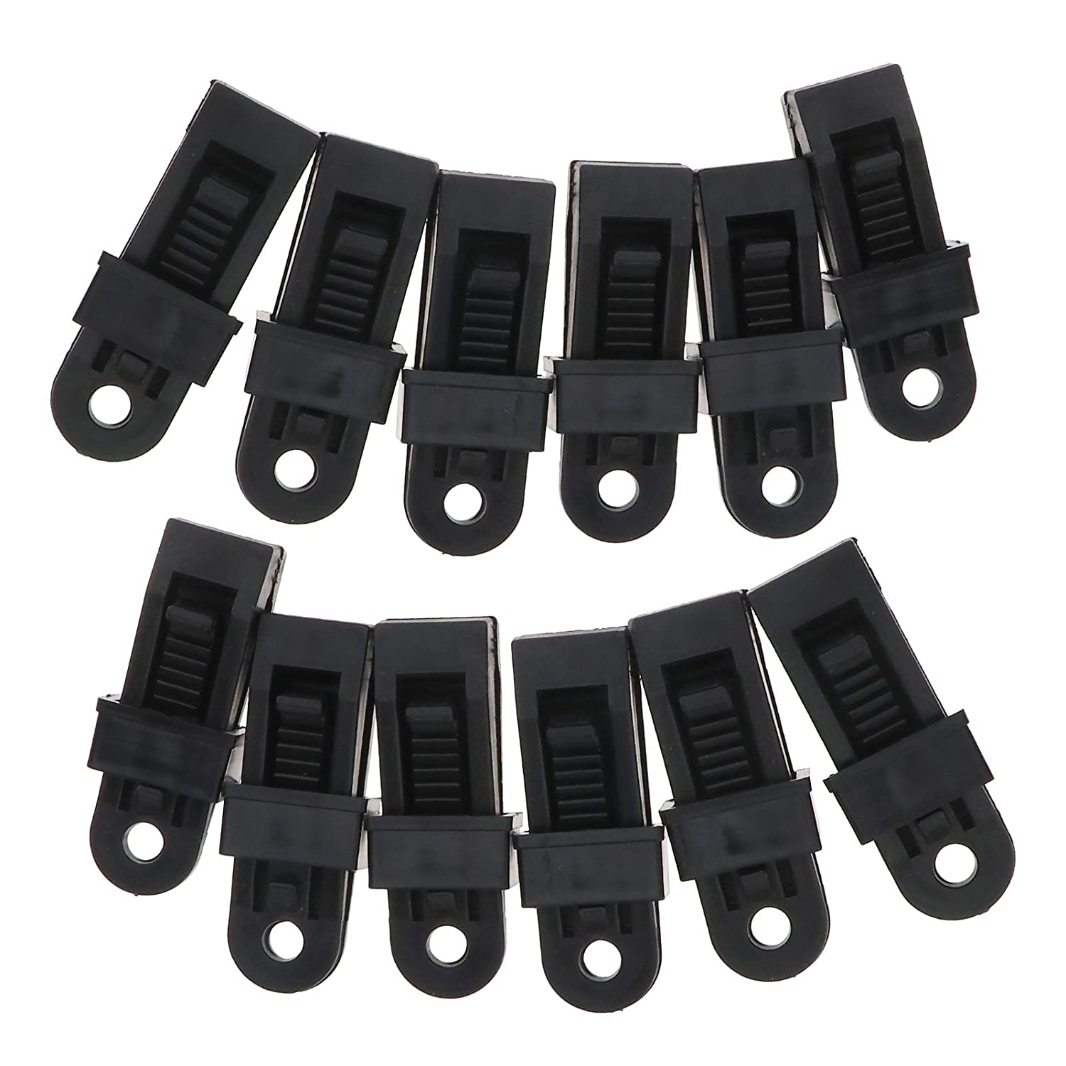 Micro Trader 24Pcs Tarp Clips Heavy Duty Reusable Awning Clamp Tarp Clips Set Camping Survival Tent Canopy Accessories