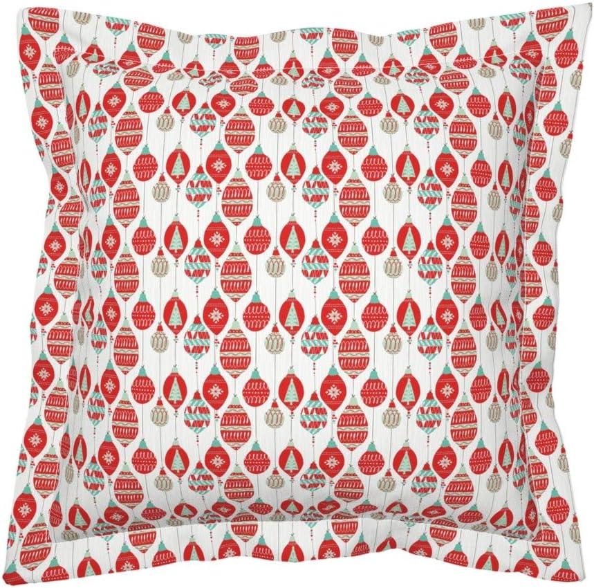 The Pillow Collection Qwara Geometric Bedding Sham Reef Queen//20 x 30