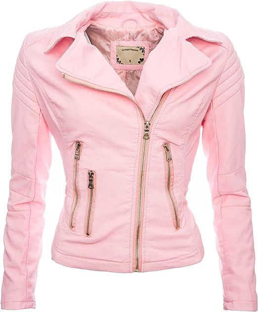 Golden Brands Selection Damen Kunstleder Jacke Sommer Übergangs Kunst Leder Jacke Jacket B143