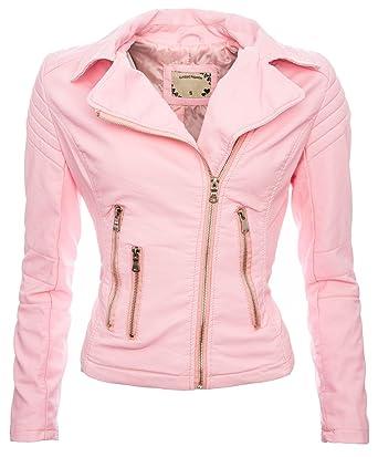 901d089553e7 Golden Brands Selection Damen Kunstleder Jacke Sommer Übergangs Kunst Leder  Jacke Jacket B143  Amazon.de  Bekleidung