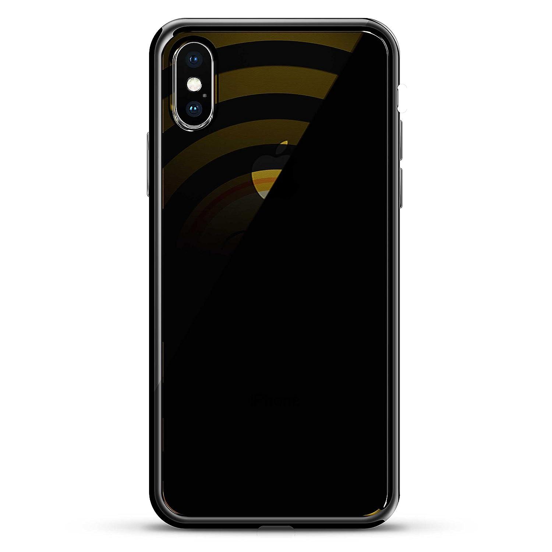 KISSING EMOJI | Luxendary Chrome Series designer case for iPhone X in Titanium Black trim
