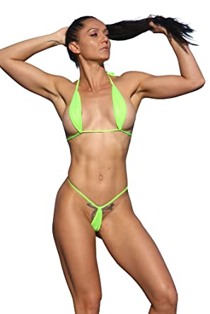 2cfb7e8c1 Amazon.com: Metallic Green Extreme Teardrop G-String Bikini-Sexy Swimwear:  Clothing