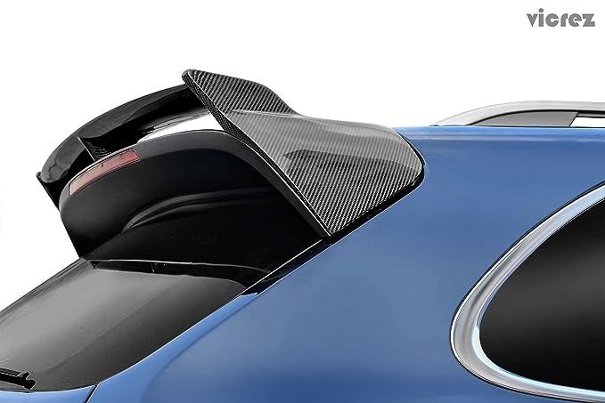 vicrez Porsche Cayenne 958 Turbo S 2015 - 2018 de fibra de carbono Deflector para techo de vz100641: Amazon.es: Coche y moto