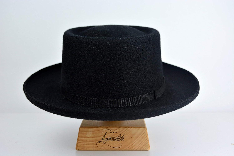 ded091ecc Amazon.com: The Founder - Rabbit Fur Felt Fedora Hat - Medium Brim ...