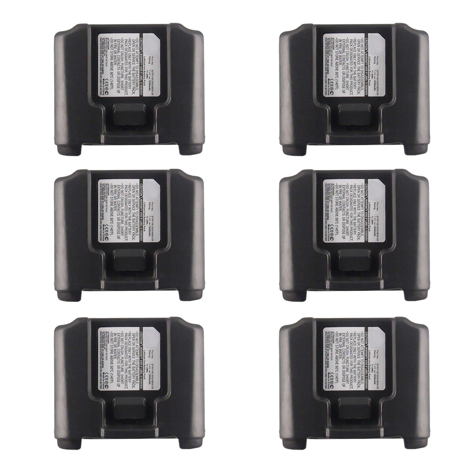 6pc Exell Li-Ion Barcode Scanner Battery For Symbol MC9000,9060 short terminal USA SHIP