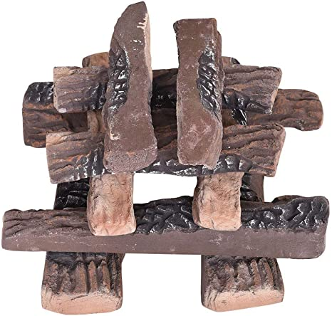 UK Small Ceramic wood-like Logs for Gas Fireplace,stoves,firepit,Multiple choice