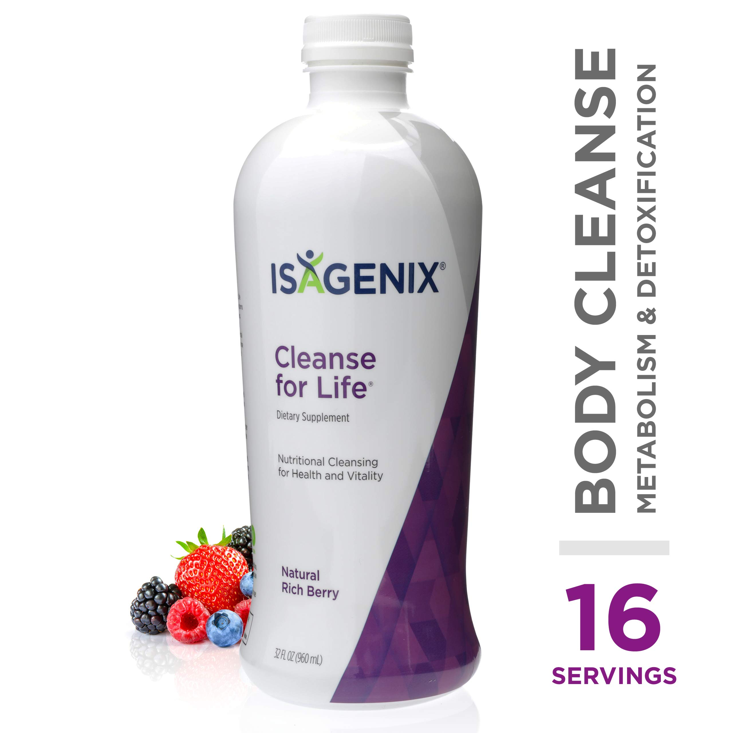 Cleanse for Life® - Natural Rich Berry Liquid - 32-Ounce Bottle by Isagenix