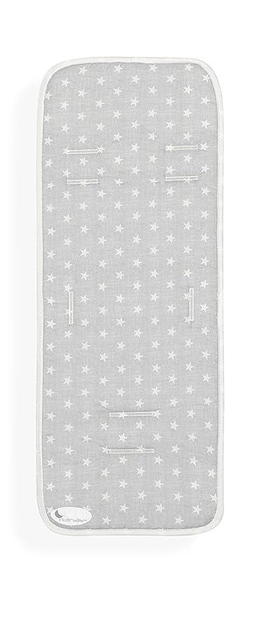 Colchoneta Silla de Paseo Universal Transpirable Estrellas Gris Interbaby