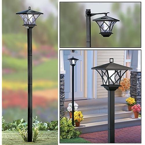 Outdoor Lamp Post Amazon: Solar Pillar Lights: Amazon.co.uk
