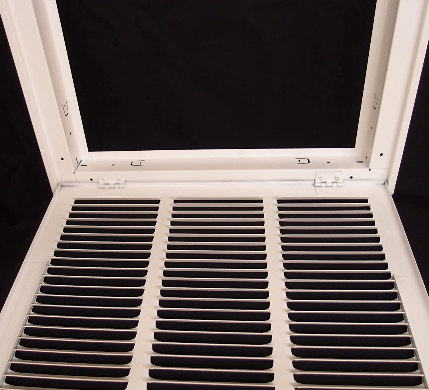 24 X 6 Steel Return Air Filter Grille for 1 Filter ceiling Recommended HVAC DUCT COVER Fixed Hinged HVAC Premium Flat Stamped Face Outer Dimensions: 26.75w X 8.75h White