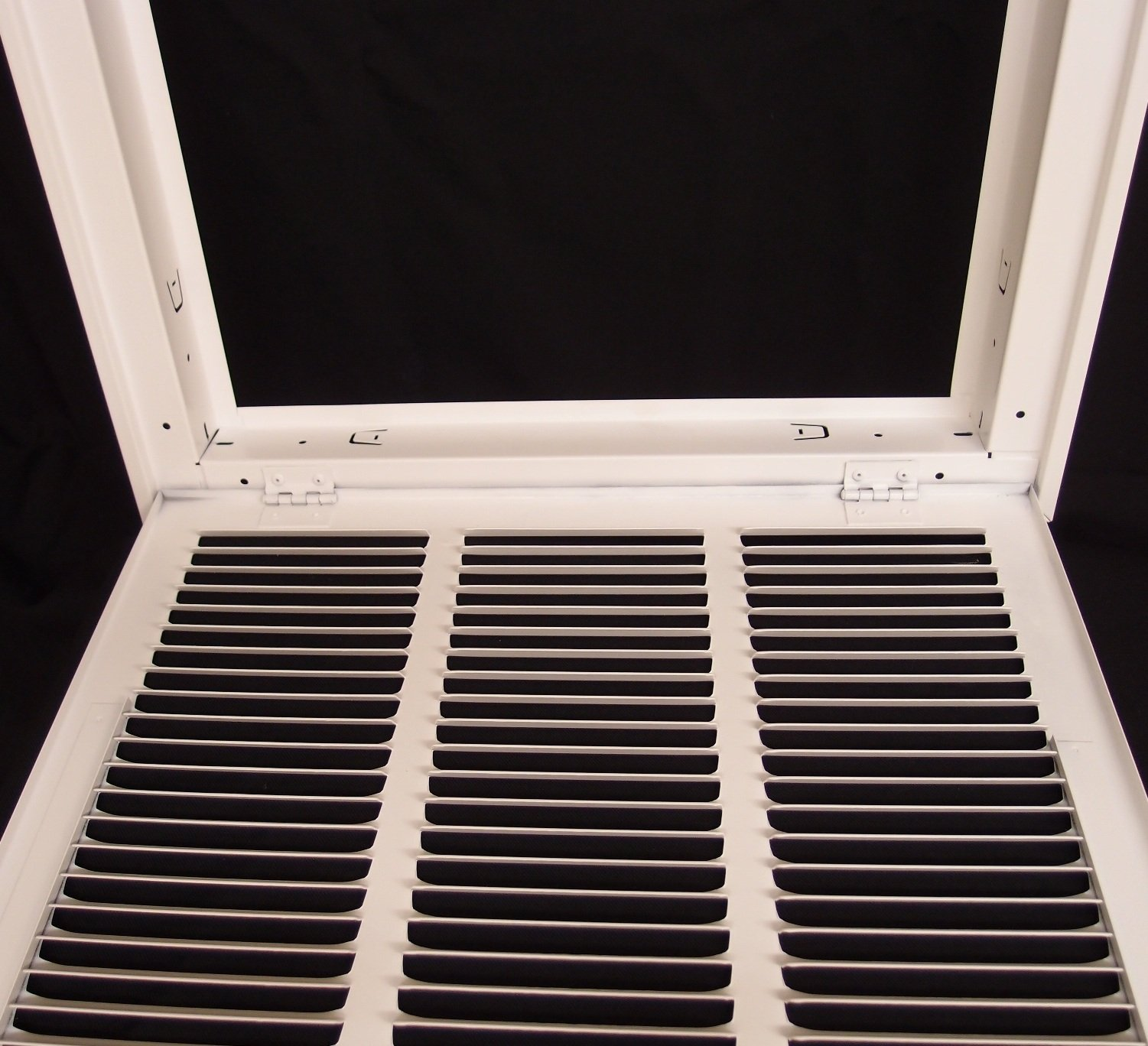 14'' X 20 Steel Return Air Filter Grille for 1'' Filter - Fixed Hinged - ceiling Recommended - HVAC DUCT COVER - Flat Stamped Face - White [Outer Dimensions: 16.5''w X 22.5''h] by HVAC Premium (Image #6)