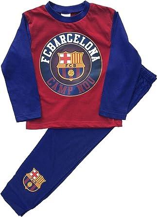 Pijama Oficial del FC Barcelona para niños, Pijama de Pijama PJS ...