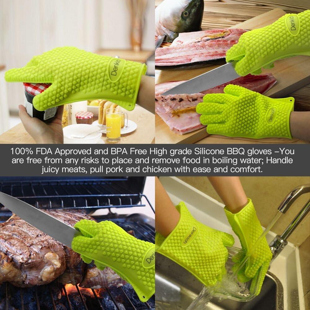 guantes resistentes de silicona