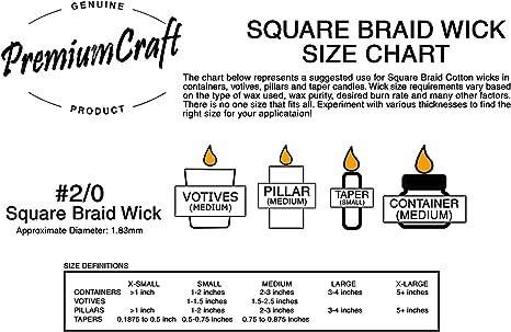 #2//0 Square Braid Wicking Per 100 Ft