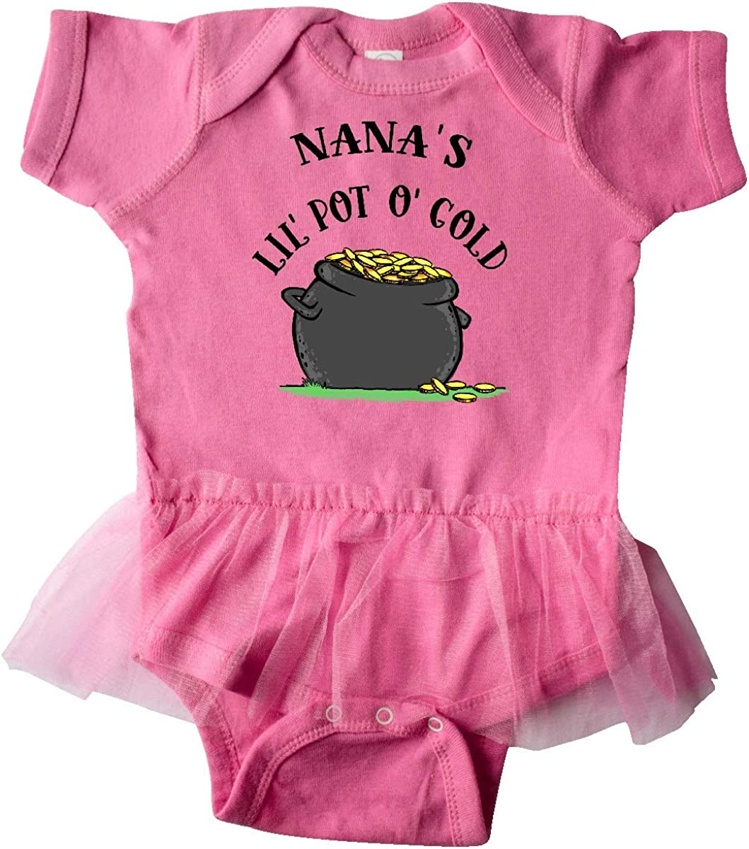 inktastic Nanas Lil Pot O Gold Infant Tutu Bodysuit