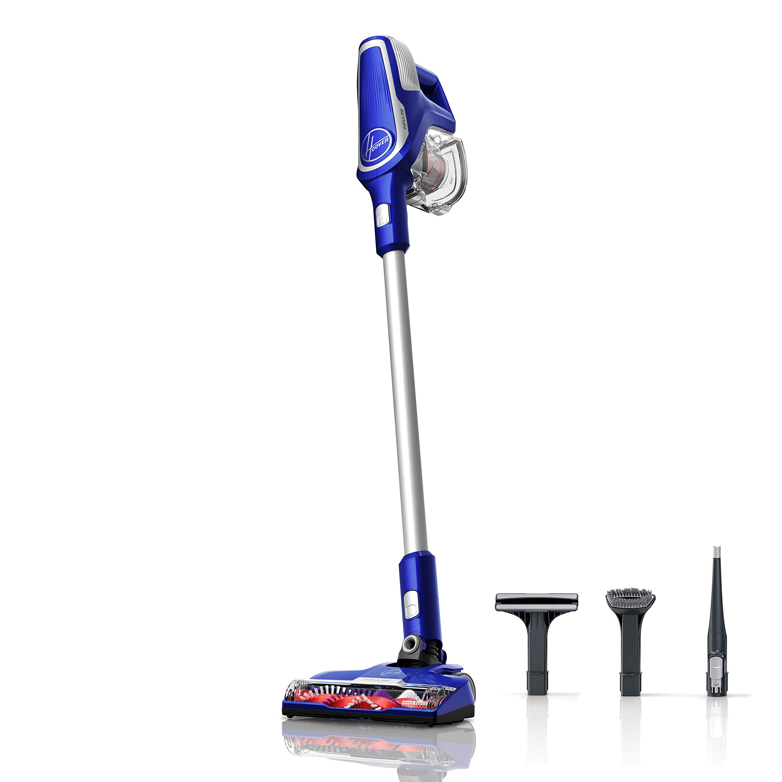 Hoover Impulse Cordless Stick Vacuum Cleaner with Swivel Steering, BH53020, Blue