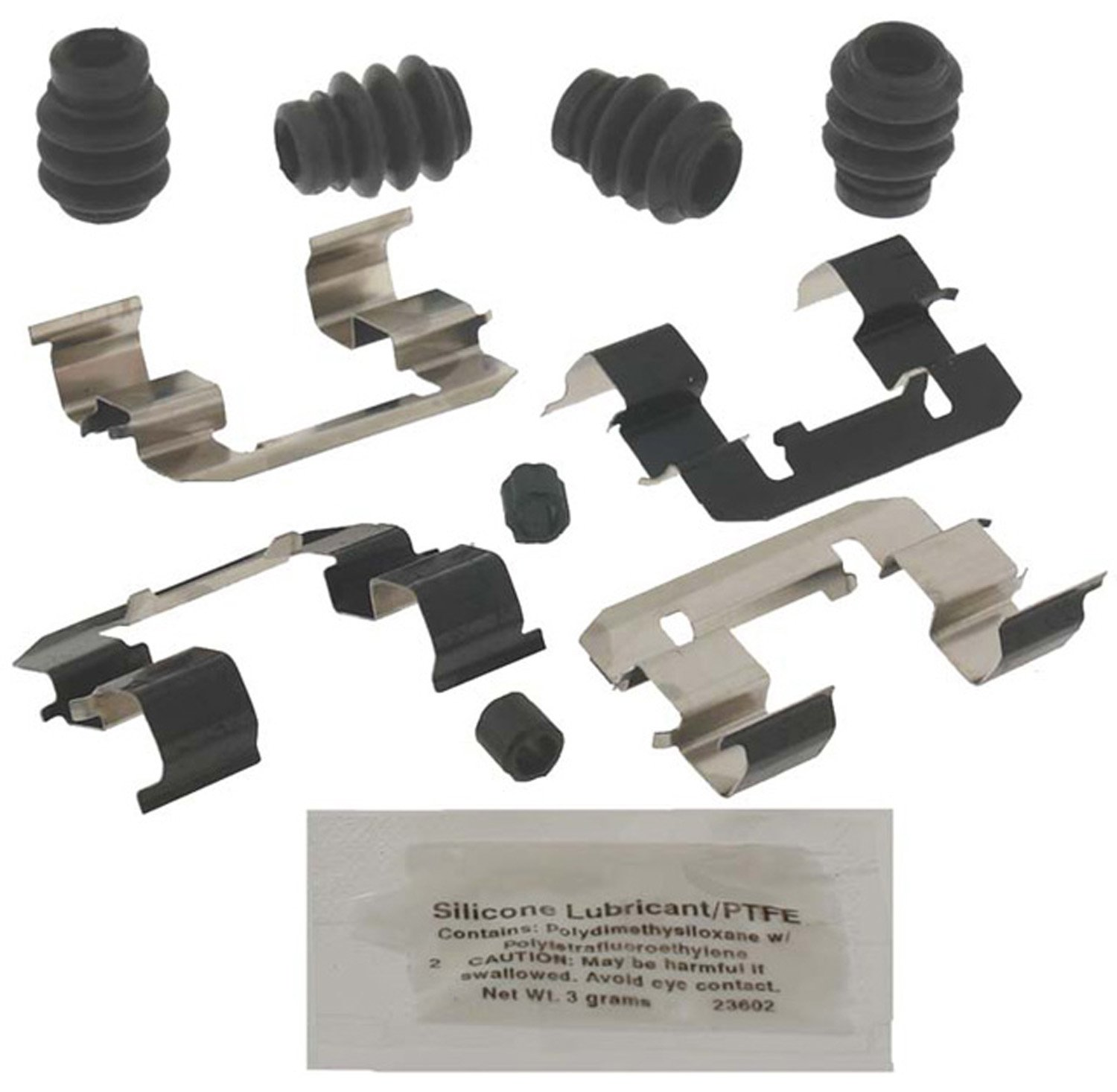 ACDelco 18K2022X Professional Front Disc Brake Caliper Hardware Kit with Clips Seals and Lubricant Bushings