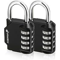 Fosmon Combination Lock (2 Pack) 4 Digit Combination Padlock with Alloy Body for School, Gym Locker, Gate, Bike Lock…