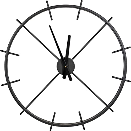 Kate and Laurel Isaac Modern Metal Wall Clock