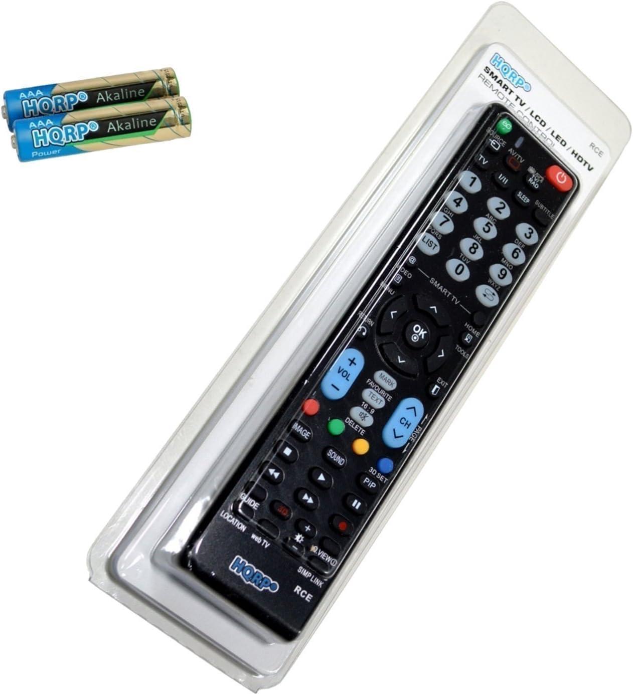 HQRP Mando a Distancia Universal para LG 65EG960V / 55EG960V / 65EF950V / 55EF950V / 55EG920V Televisor UHD (4K) con Smart TV: Amazon.es: Electrónica