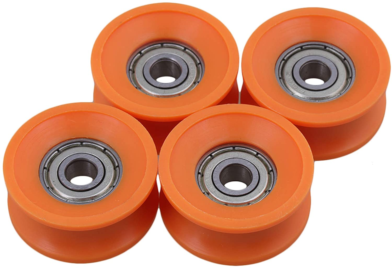 10pcs U Nylon plastic Embedded 696 Groove Ball Bearings 6*24*9mm Guide Pulley