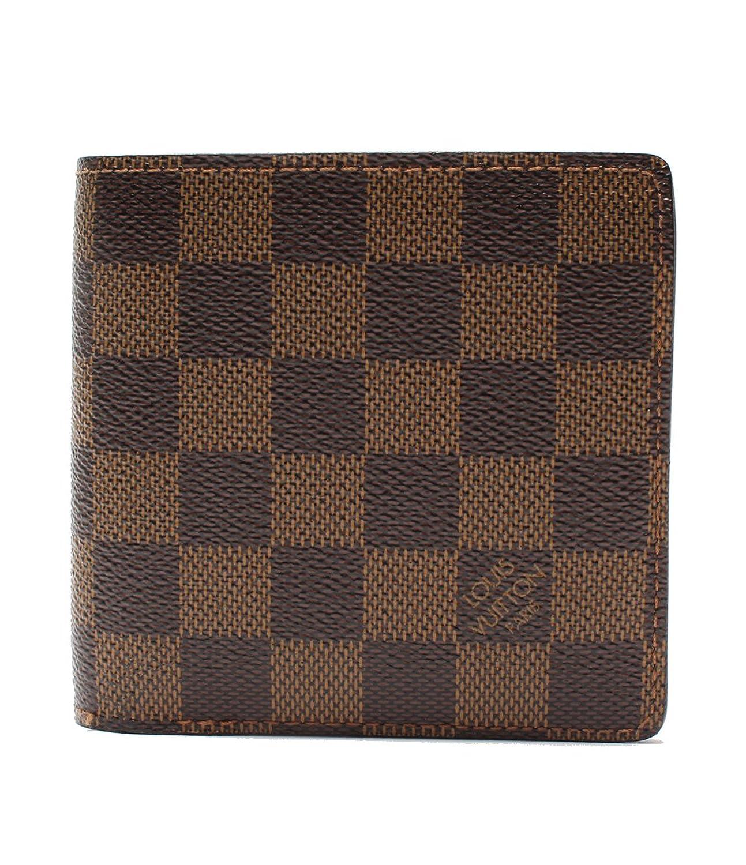ルイヴィトン マルコ ダミエ N61675 二つ折り財布 Louis Vuitton レディース【中古】 B076CQYP52