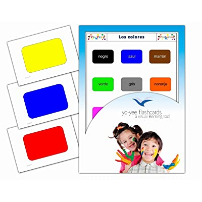 Tarjetas de vocabulario - Los Colores - Color Flashcards in Spanish for Babies 1-2, Toddlers 2-4, Kids, Children and Adults: Toys & Games