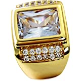 Wayne-Size 8-15 Jewelry Man's AAA Sapphire 18K Gold Filled Ring R199