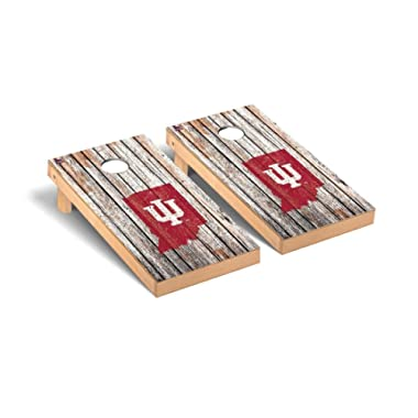 Victory Tailgate Indiana IU Hoosiers Regulation Cornhole Game Set Weathered Version