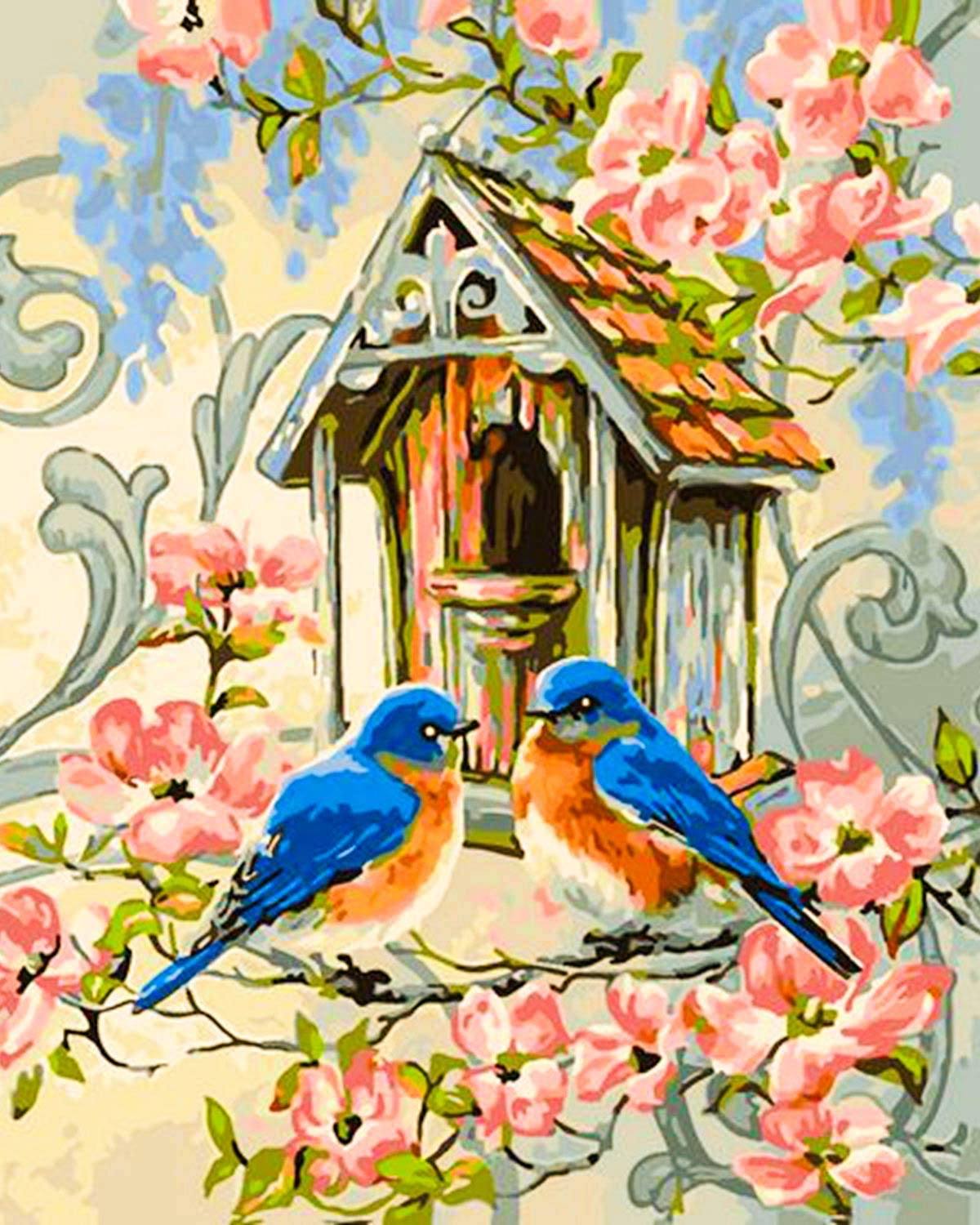 DIY Paint By Number Kit Digital Oil Painting On Canvas Birds Animal Wall Decor