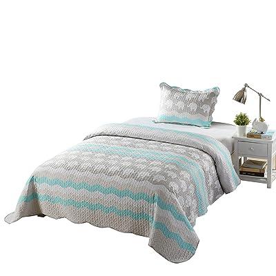TT LINENS 2/3 Pcs Kids Quilt Set Lightweight Bedspread Decoration Throw Blanket Teens Boys Girls Bed Printed Bunk Bedding Coverlet Comforter Set Elephant Quilt A95 (Twin): Home & Kitchen