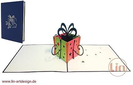 Tarjetas de felicitación Lin Pop Up 3d regalo, tarjetas de ...