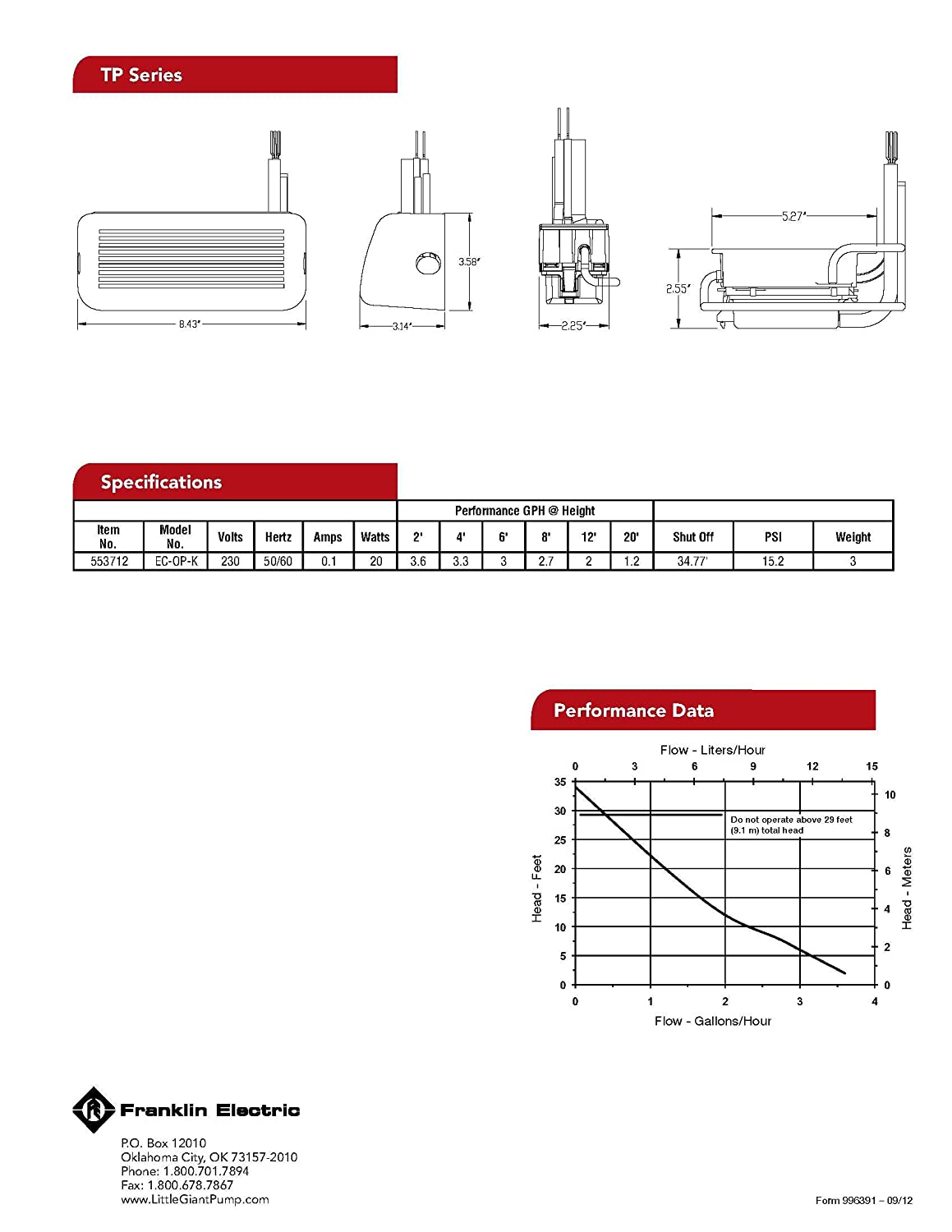Little Giant Wiring Diagram Pump Pumps Ec 1 Free Download Oasis Dlco On