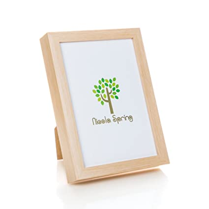 Amazon.com - Nicola Spring Acrylic Box Photo Frame - Light Wood - 6 ...