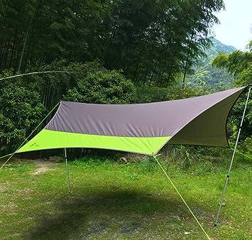 Carpa GJX Nueva Dosel, Acampada al Aire Libre Grande de Tela de Oxford, Cortina de Aluminio a Prueba de Lluvia Sombra de Aluminio Columna Grande del Campamento Pérgola (5-8 Personas): Amazon.es: Deportes
