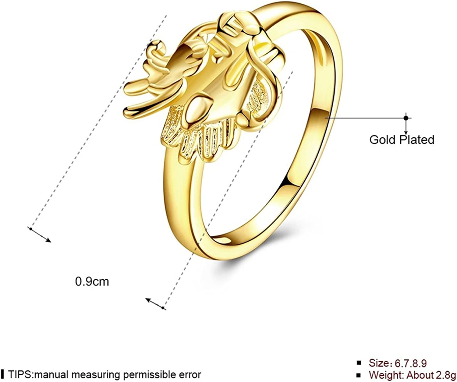 Epinki Wedding Band for His and Hers Anniversary Rings Gold Plated with Crystals