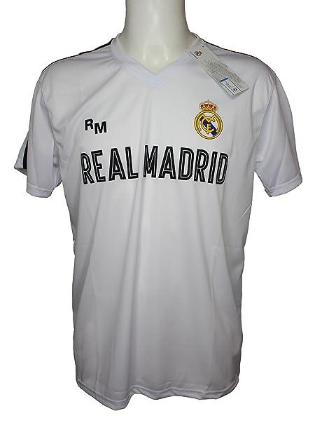 Camiseta Attack Infantil Real Madrid Producto Oficial Blanco - Primera Equipacion (4 Años)