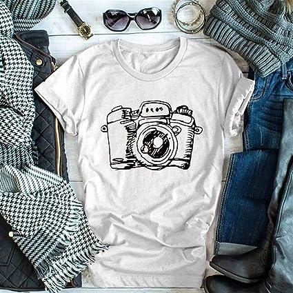 2019 Camiseta Casual para Mujer, Jessboylas Camisetas Cortas